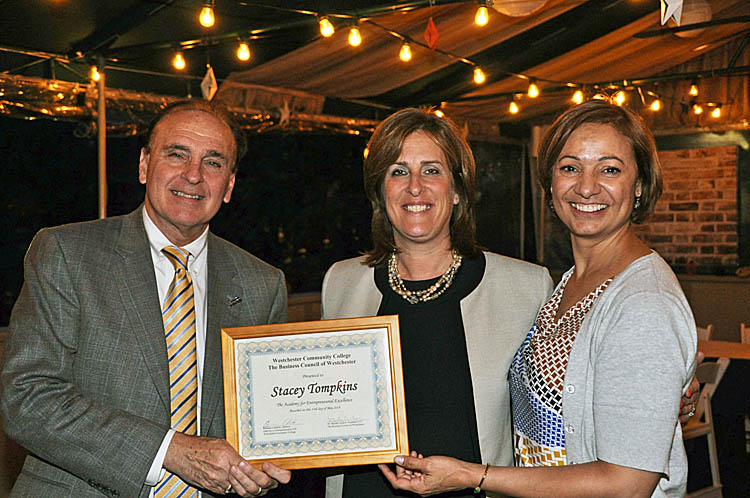Stacey received graduation diploma