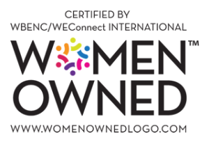 Certified by WBENC/WEConnect International Women Owned Logo